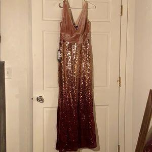 Ombré Pink Evening Gown